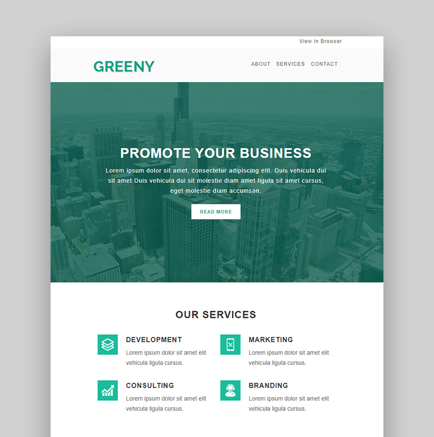 Greeny Email Newsletter