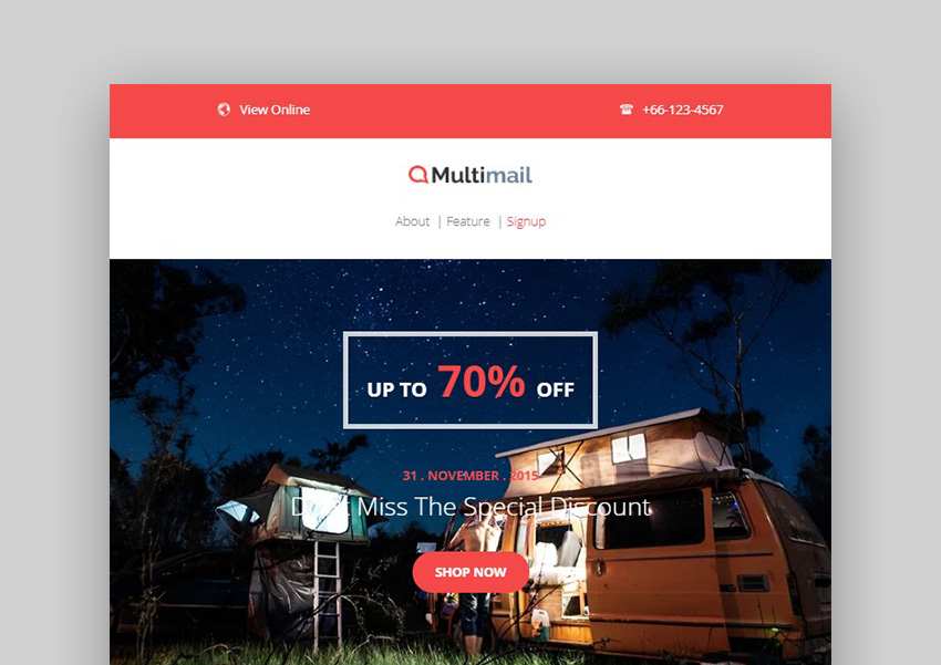 Multimail Mailchimp Email Newsletter Templates