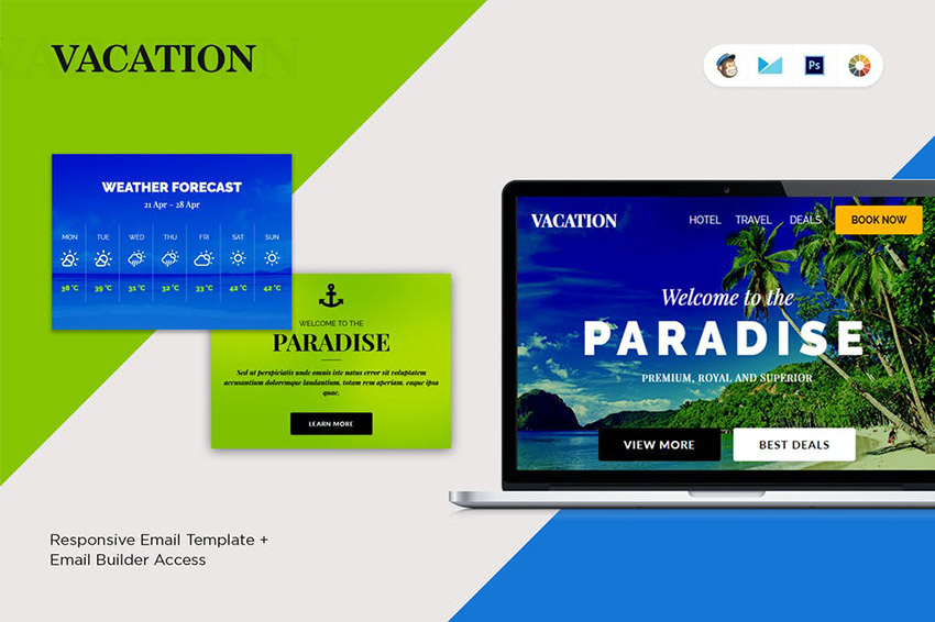 Vacation Mailchimp Newsletter Templates