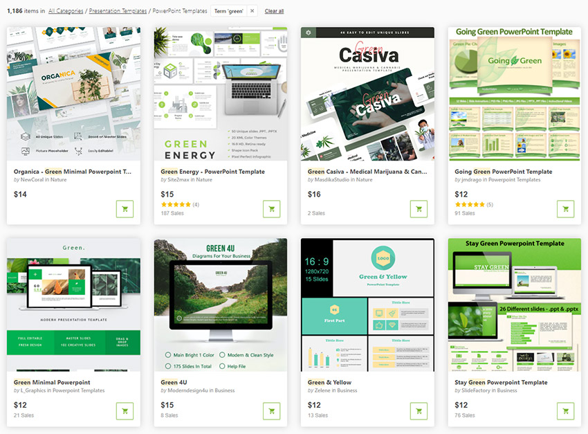 Best Selling Sustainability PowerPoint Templates from GraphicRiver for 2021