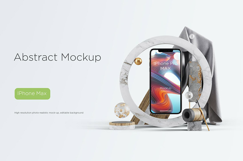 Image of Abstract Mockup iPhone Pro Max
