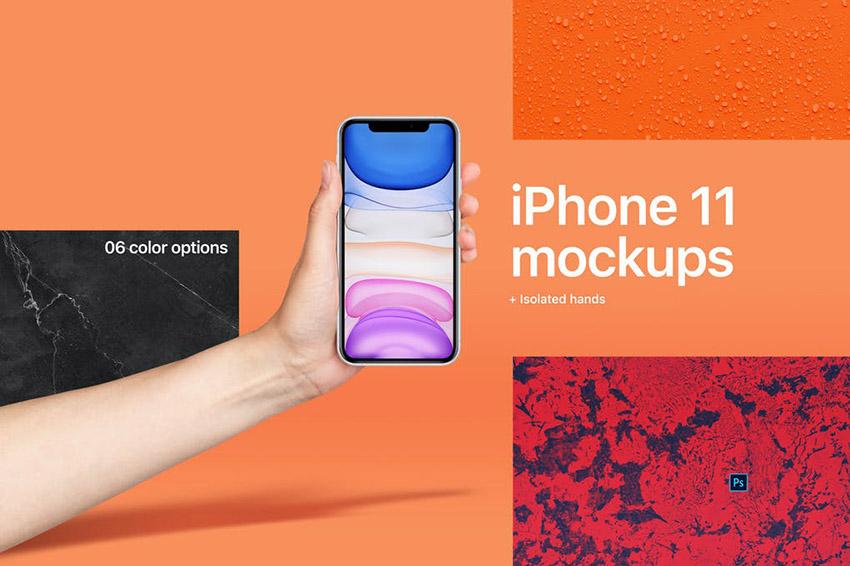 iPhone 11 Mockup Hand