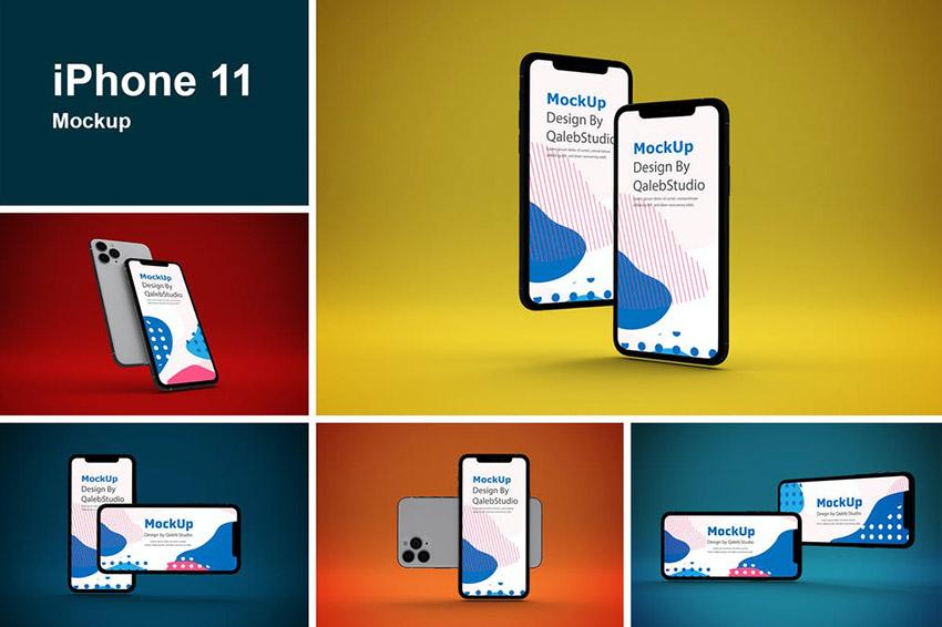 iPhone 11 app mockup