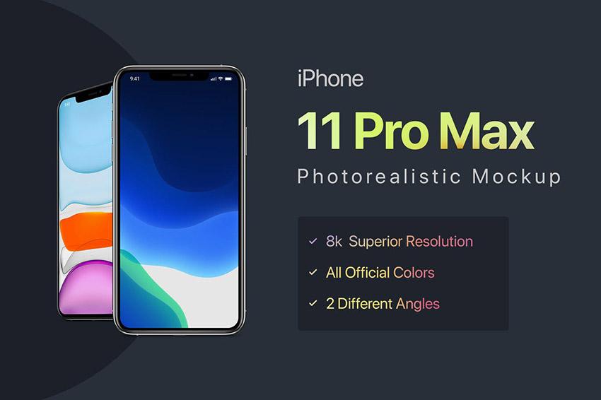 iPhone 11 Pro Max Photoshop Mockup