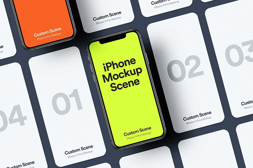 iPhone 11 Pro Photoshop Mockup