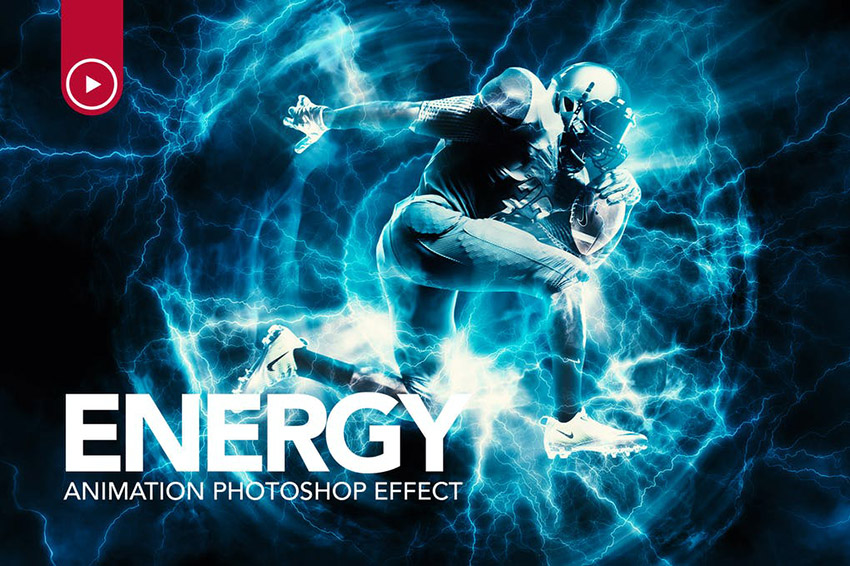 Energy Animation Photoshop Action