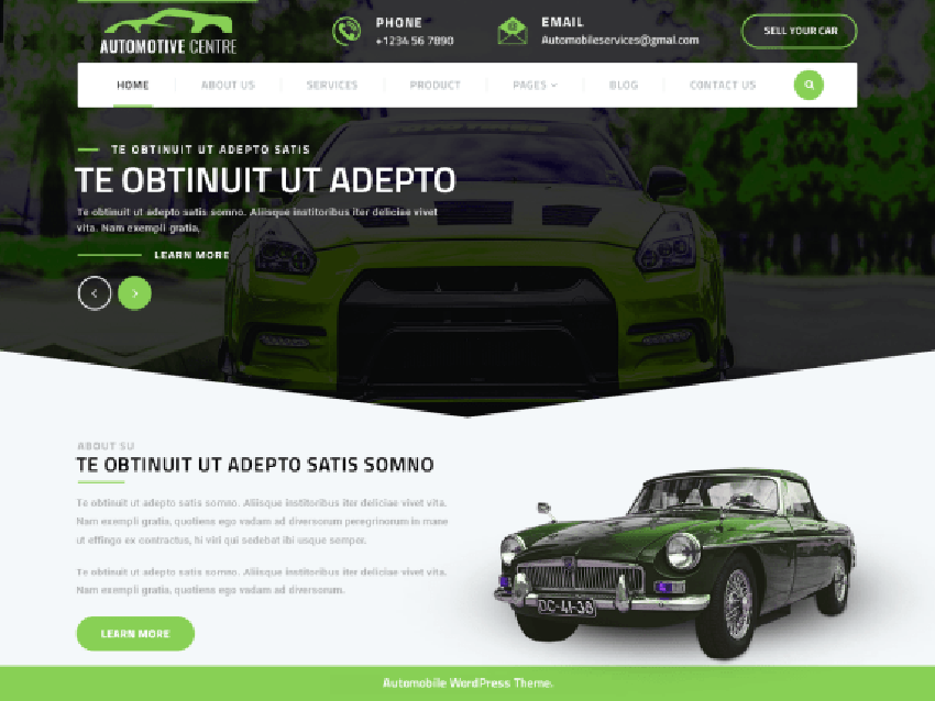 Automotive Centre Automotive WordPress Theme Free Download