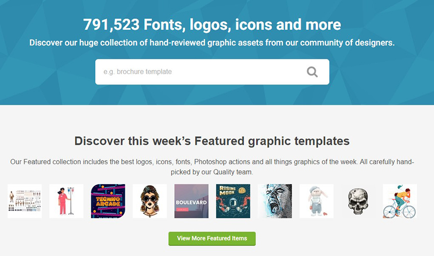 GraphicRiver Homepage
