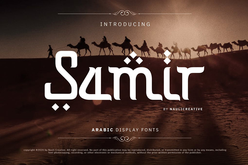 Samir Arabic Tattoo Fonts