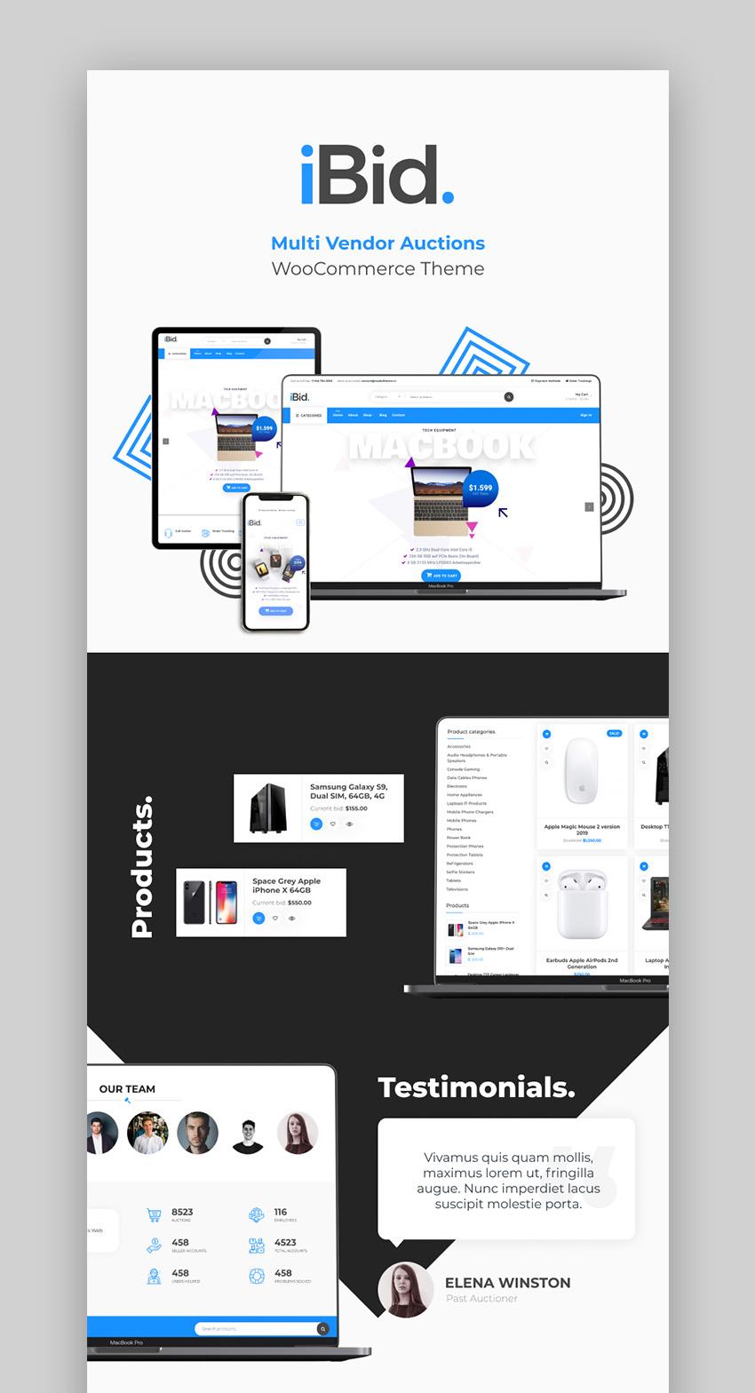 iBid Best Multi Vendor Marketplace WordPress Theme