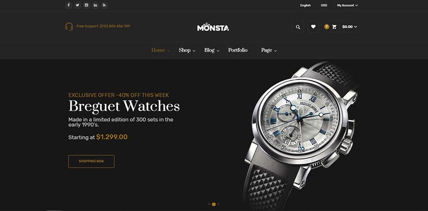 Monsta Jewelry Store WordPress Theme