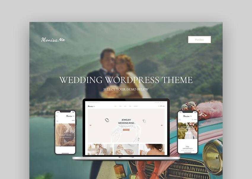 Monisa Marriage Responsive Wedding WordPress Theme