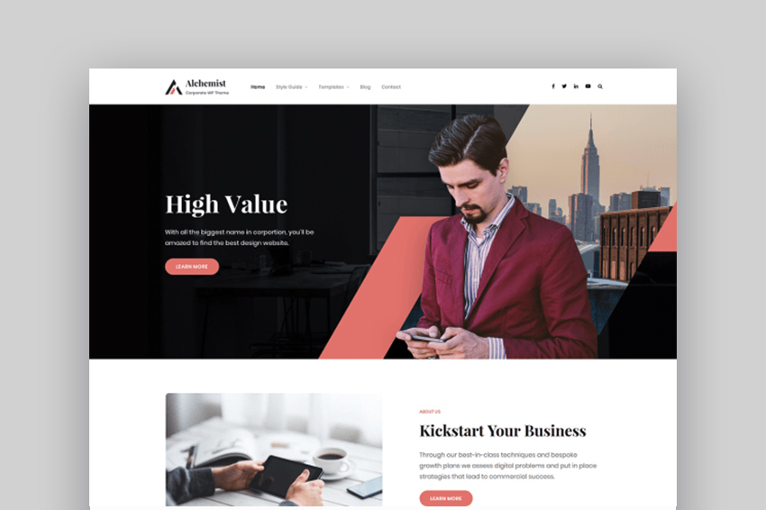 Alchemist Free Download WordPress Theme For Software Company