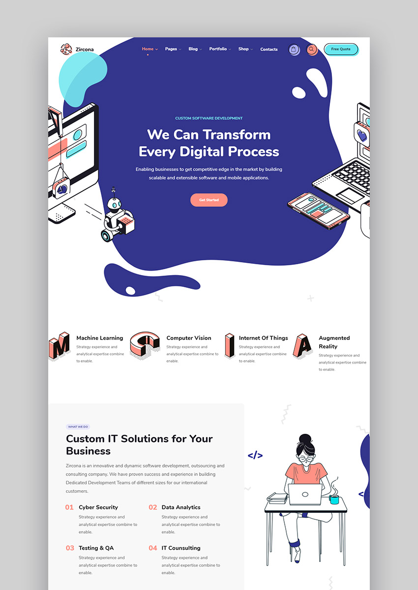 Zircona IT Theme WordPress