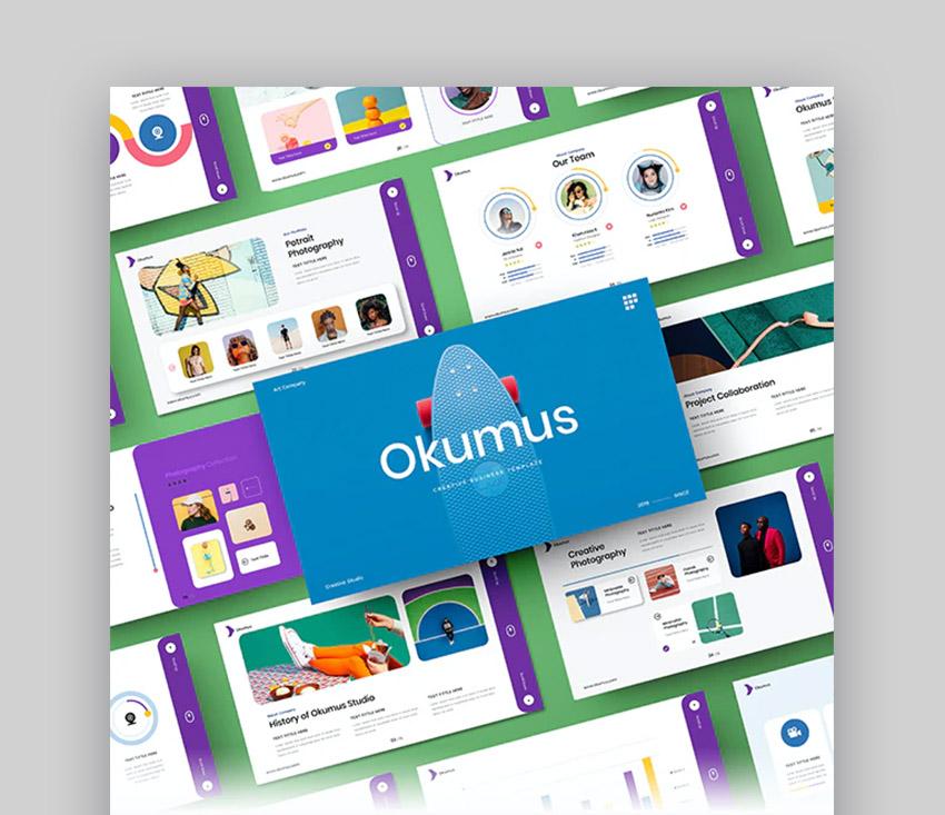 Okumus – plantilla PowerPoint para negocios creativos