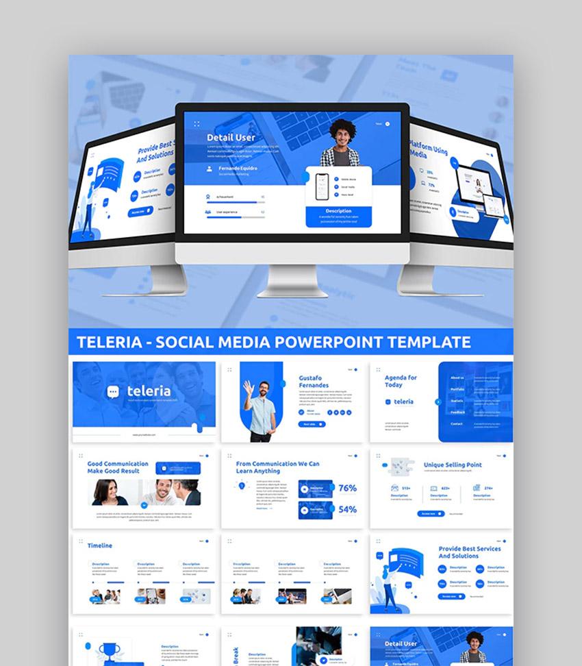 Teleria - plantilla PowerPoint para redes sociales