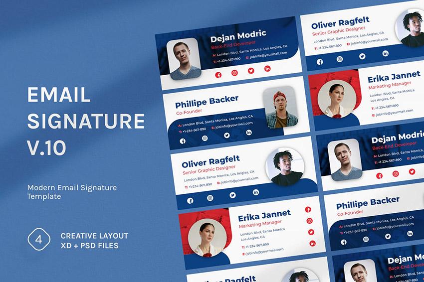 Email Signature Mockup v10 Typography