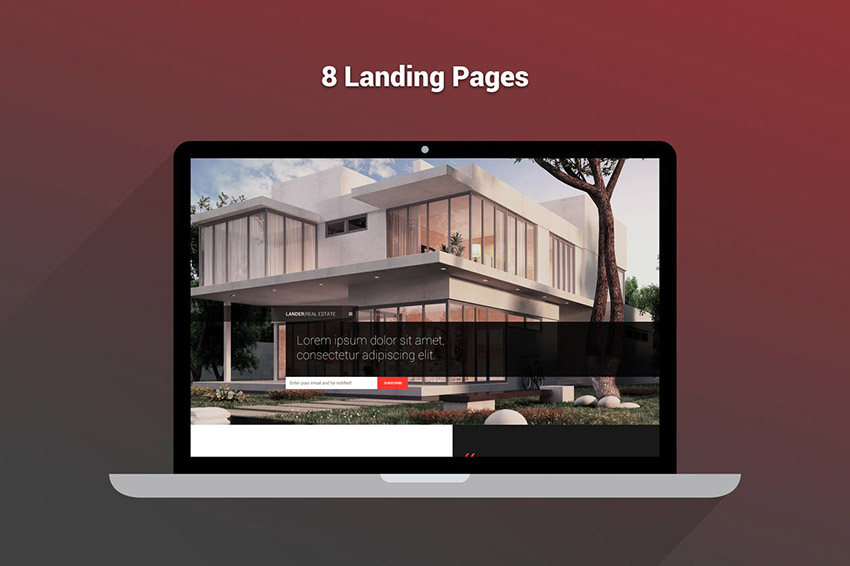 Lander Landing Page For Real Estate Agents