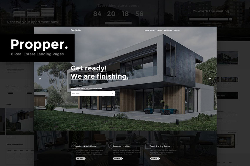 Propper real estate landing page