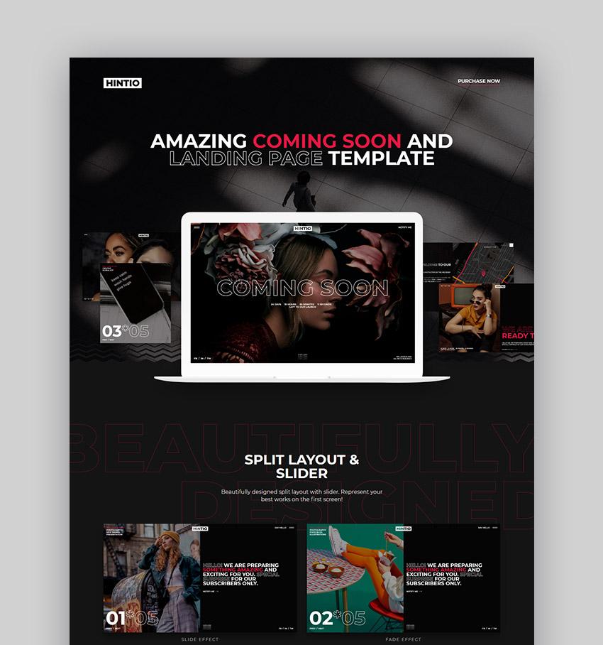 Hintio Landing Page HTML5