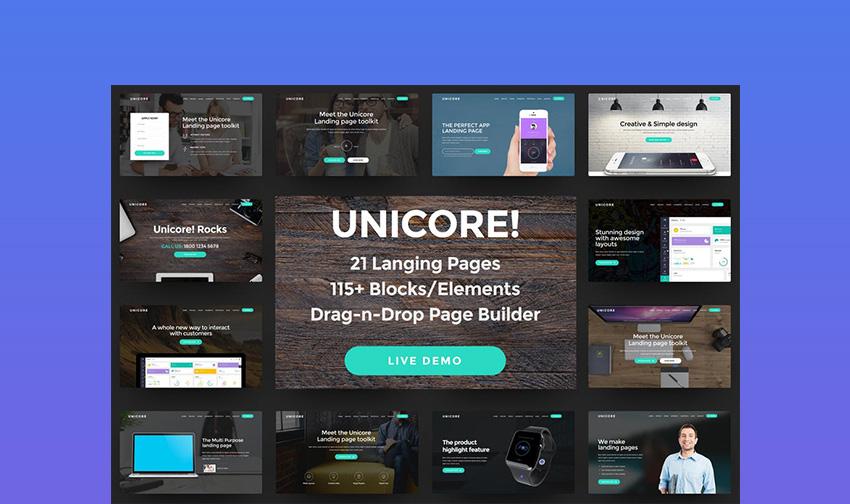 Unicore Unique Landing Page Template