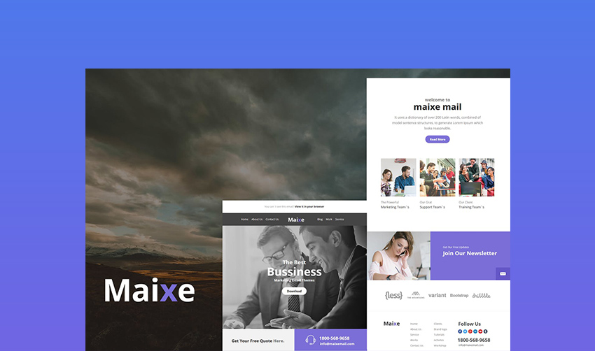 Maixe Email Newsletter Design