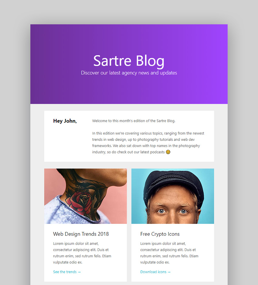 Image of sartre responsive email toolkit 120 sections online builder mailchimp mailster shopify 21991804