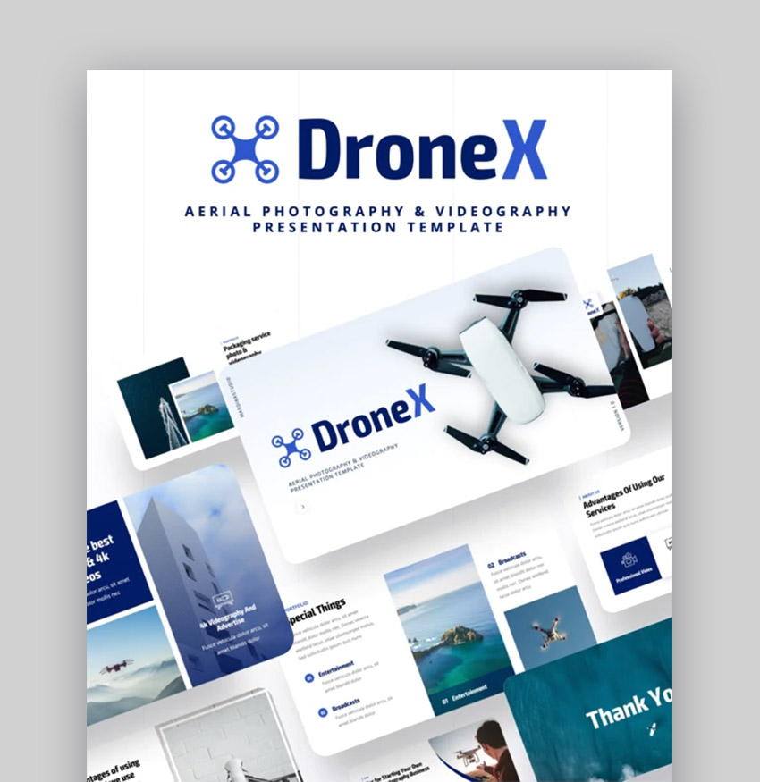 Drone X Professional PPT Templates
