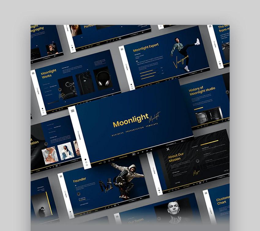 Moonlight Business PowerPoint Templates