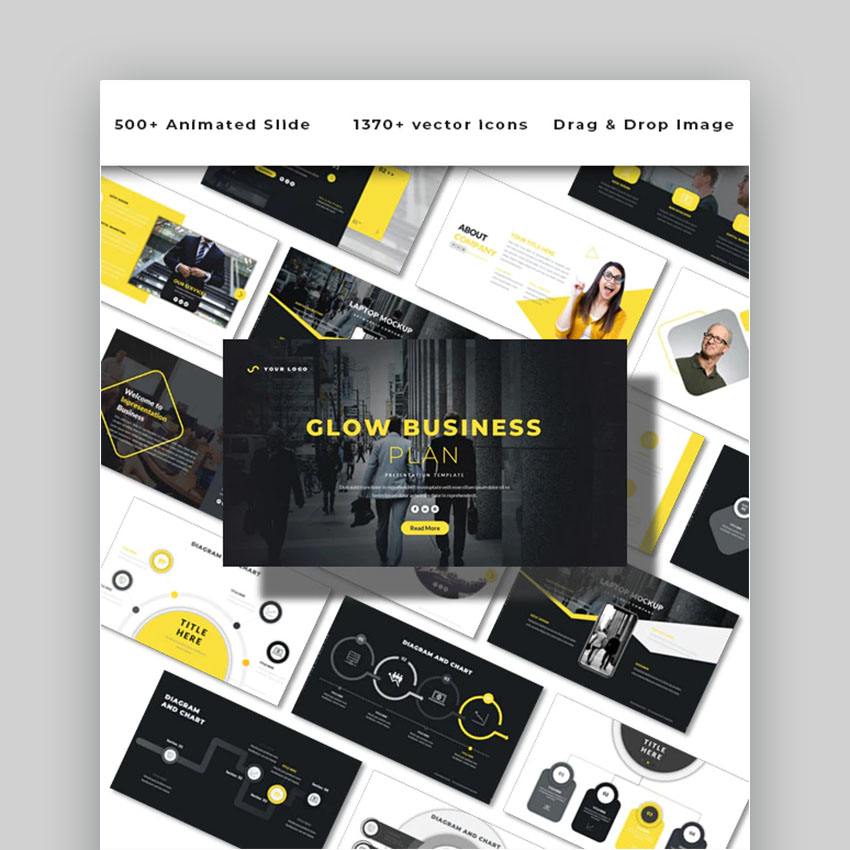 Glow Business Plan effective PowerPoint Template