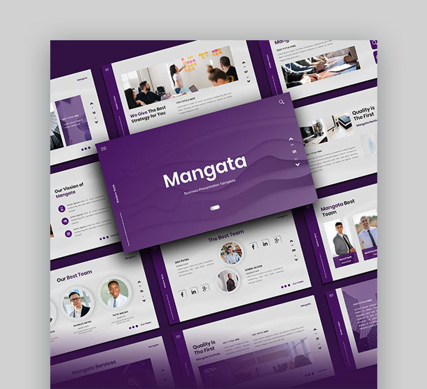 Mangata Clean and Modern Presentation PowerPoint Template