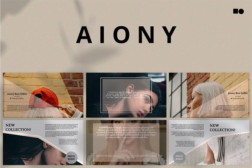 Aiony Modern Keynote presentation template for Mac