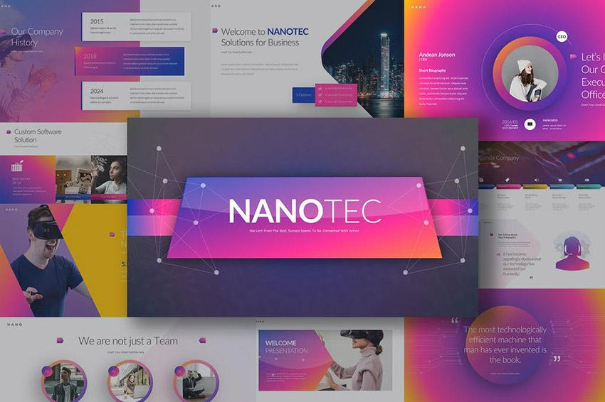 Nanotec Colorful Keynote Design Ideas