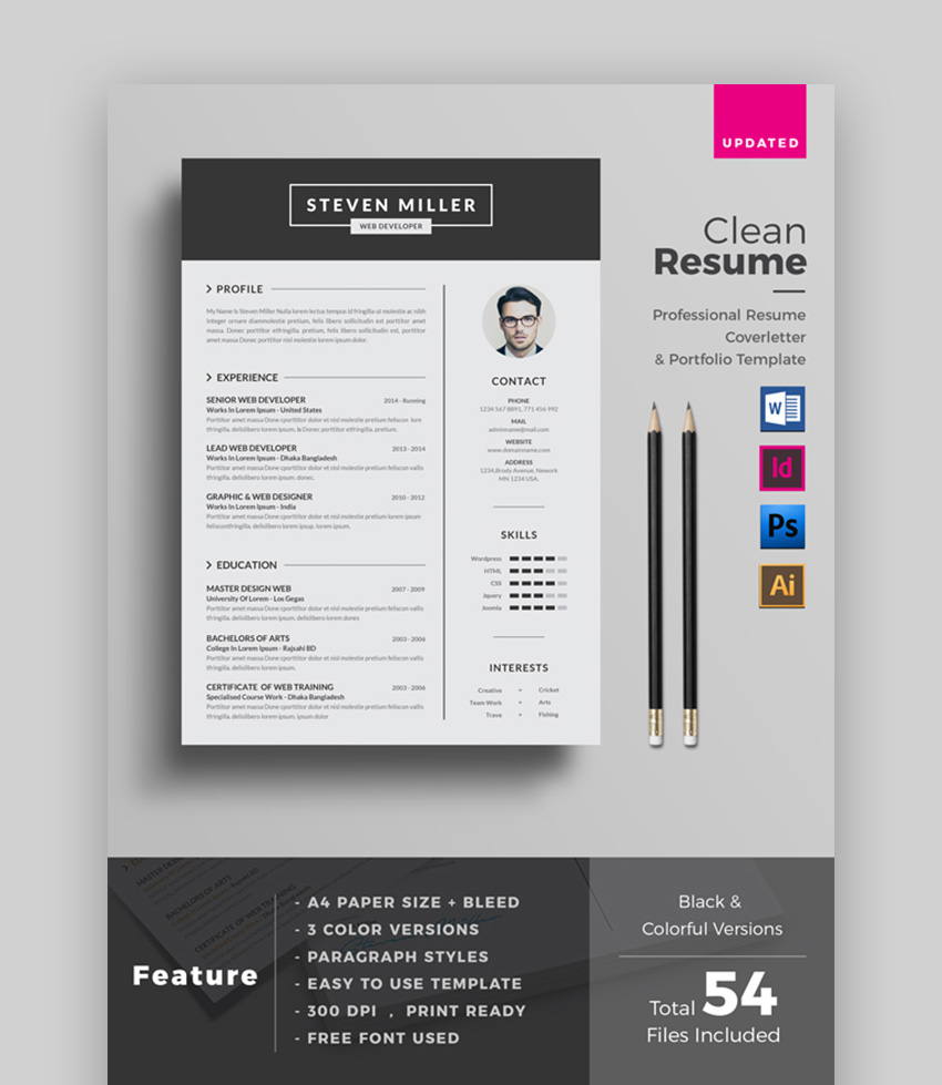 39 Professional Ms Word Resume Templates Cv Design Formats