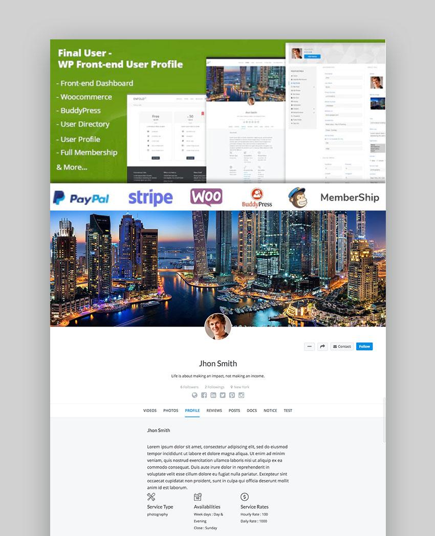 Final User WordPress Membership Plugin