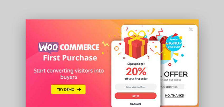 WooCommerce Mailchimp Subscribe First Purchase Discount Promotion