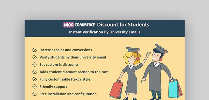 WooCommerce Discount for Students plugin