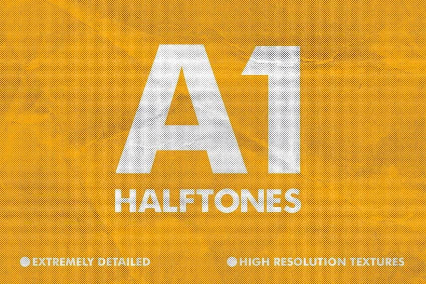 A1 Halftone Professional Background Textures