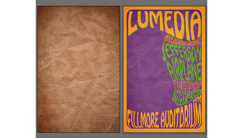 Concert Poster Tutorial Add Texture