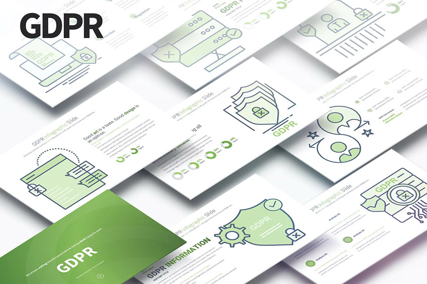 GDPR Minimal Design Infographic Presentation