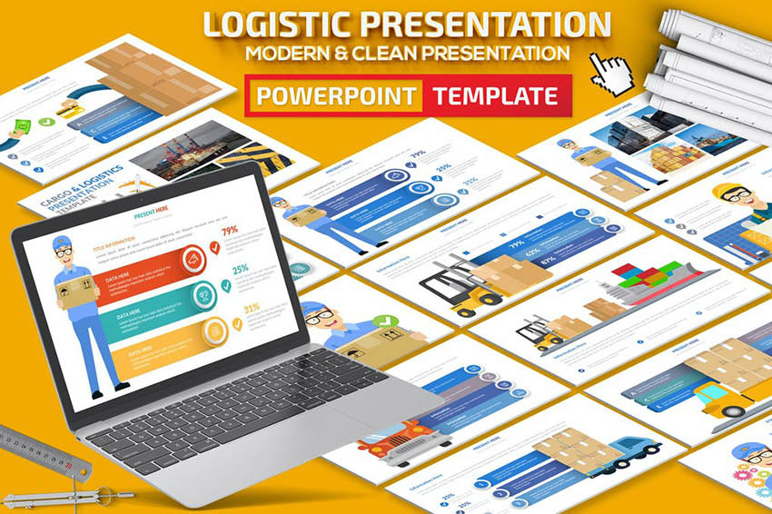 Logistic Infographic PowerPoint