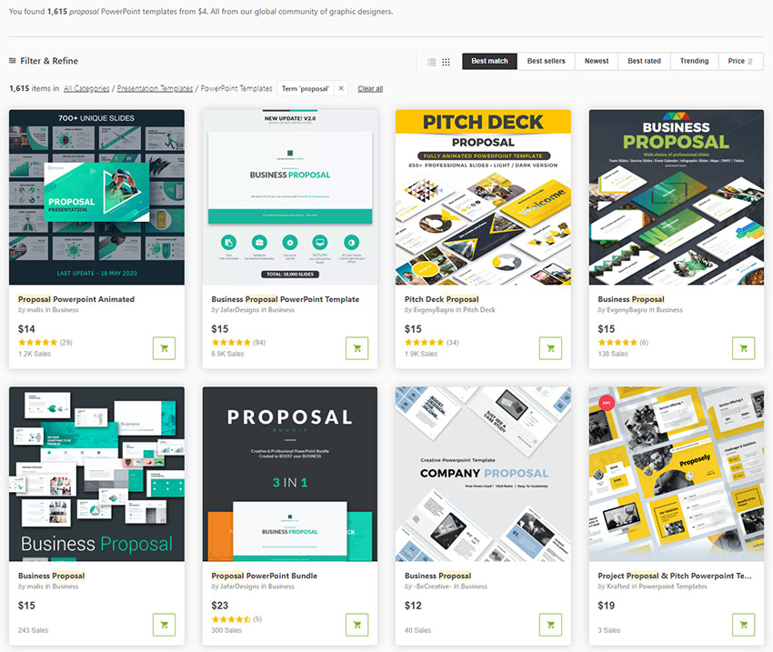 Get PowerPoint business templates for one off use on GraphicRiver