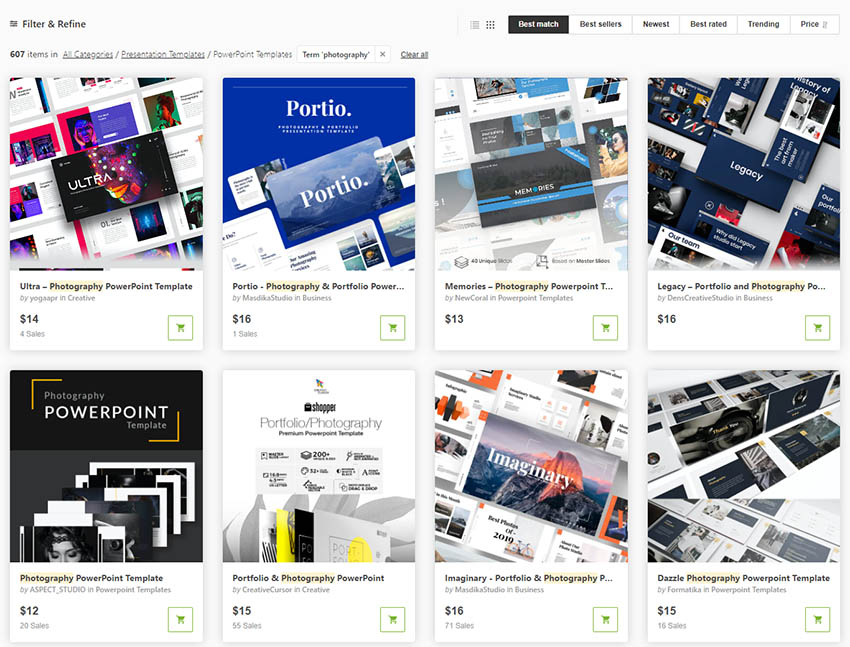 Photographer Presentations From GraphicRiver