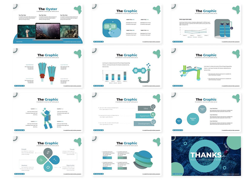 Diving MS PowerPoint Template