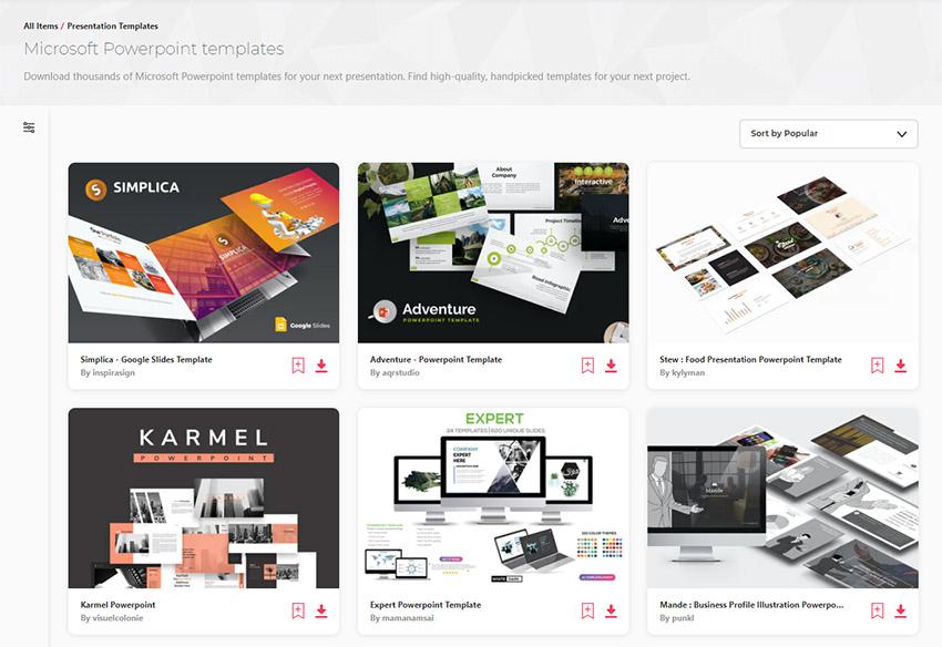 Envato Elements Premium Creative PowerPoint Templates