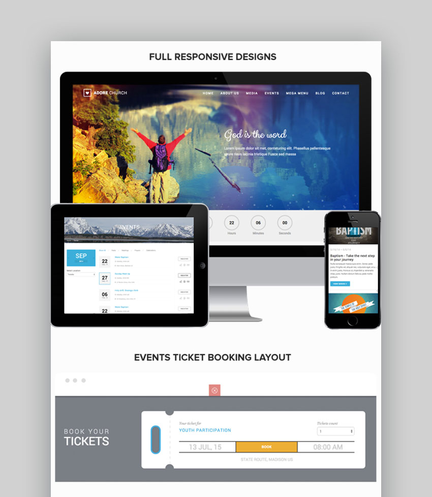 Adore Church Responsive WordPress Theme