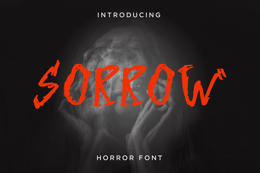 Sorrow Old Horror Font