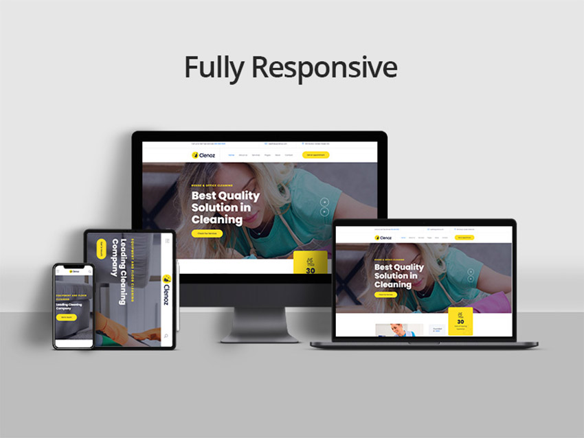 Clenoz Cleaning Services WordPress Theme Download