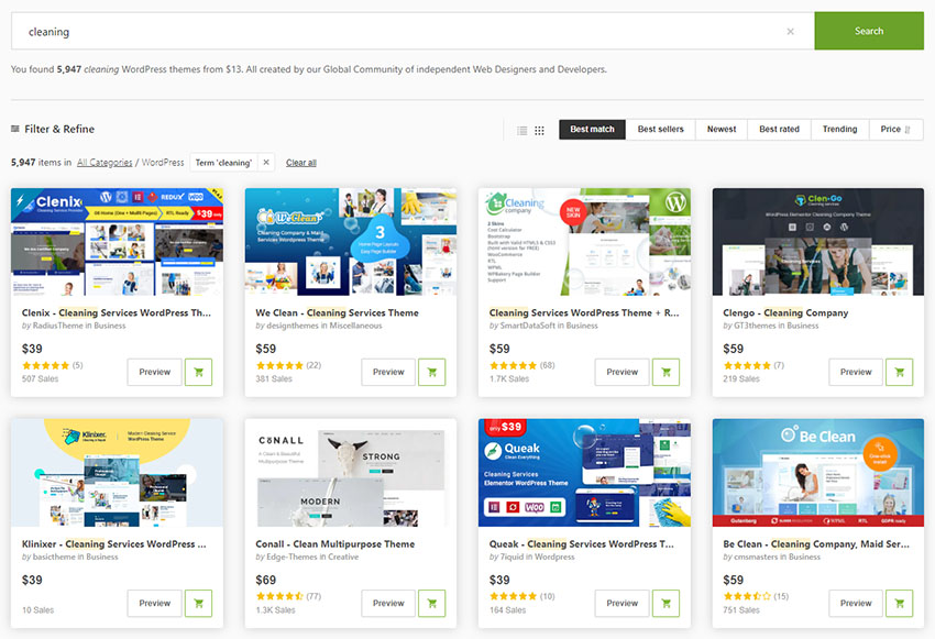 WordPress Themes for Cleaning Services ThemeForest