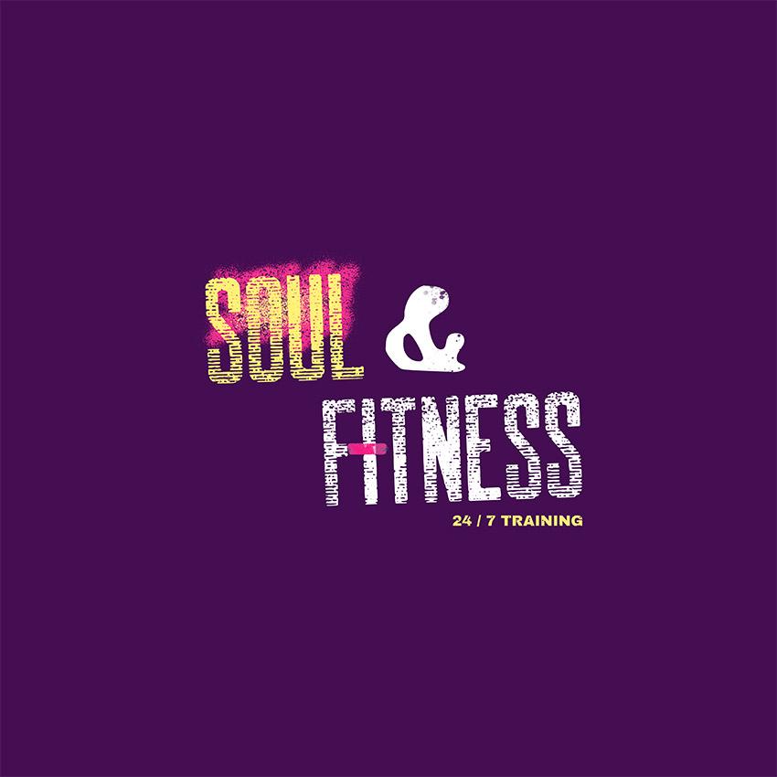 Gym Text Logo Design